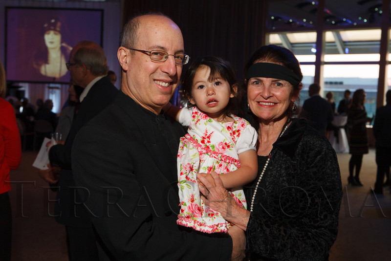 Donald Sosin, Mollie Sosin, and Joanna Seaton.  The Denver Silent Film Festival Opening Night Gala at the The Denver Center for the Performing Arts, Seawell Ballroom, in Denver, Colorado, on Friday, Sept. 21, 2012.<br /> Photo Steve Peterson
