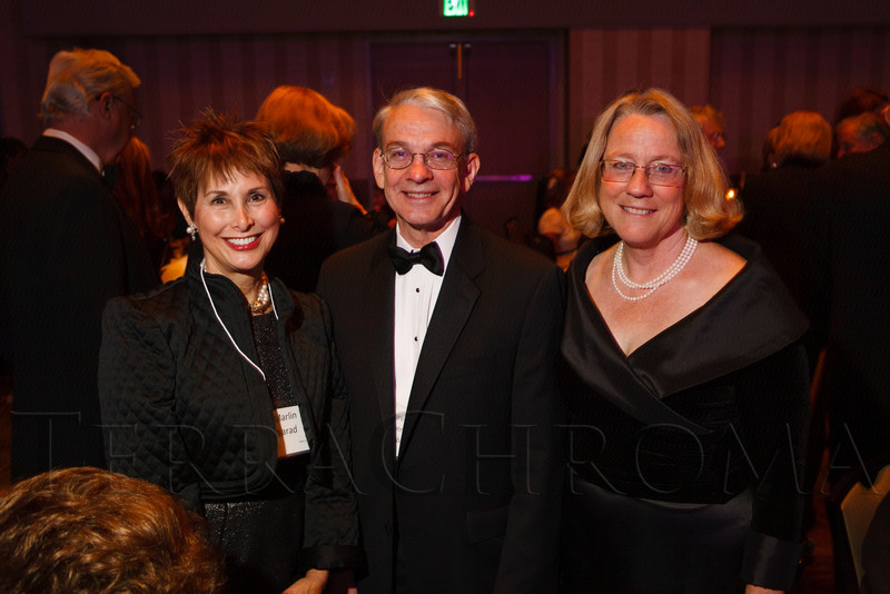 Marlin Barad, Robert Coombe, and Julanna Gilbert.  The Bridge Project 21st Annual Gala, at the Hyatt Regency Denver at the Colorado Convention Center in Denver, Colorado, on Saturday, Sept. 29, 2012.<br /> Photo Steve Peterson