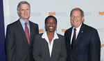 Ed Hubbard, Saundra Thomas, Congressman Robert Turner<br /> <br /> NEW YORK - Photos by Scott Wintrow/Gamut Photos
