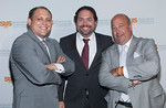 Drew Train, Aaron Padin & Andrew Zimmern<br /> <br /> NEW YORK - Photos by Scott Wintrow/Gamut Photos