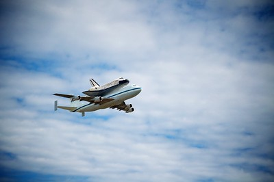 Space Shuttle Discovery - Final Trip before landing at Washington Dulles and moving into the Smithsonian