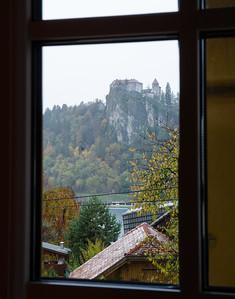 We could see Bled Castle from our room.