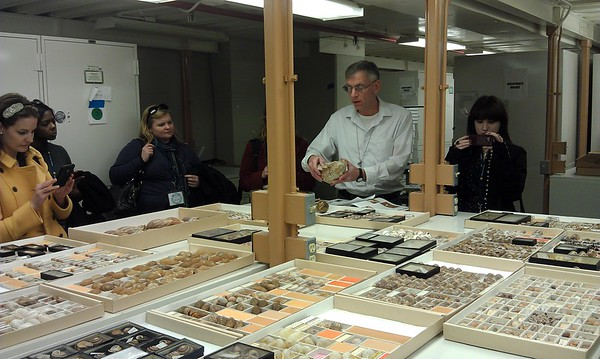 Robert Hershler, a research zoologist specializing in aquatic gastropoda, gives an overview of the Smithsonian's collection of land snails