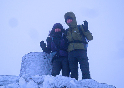 Snowdon summit JdeB & AK