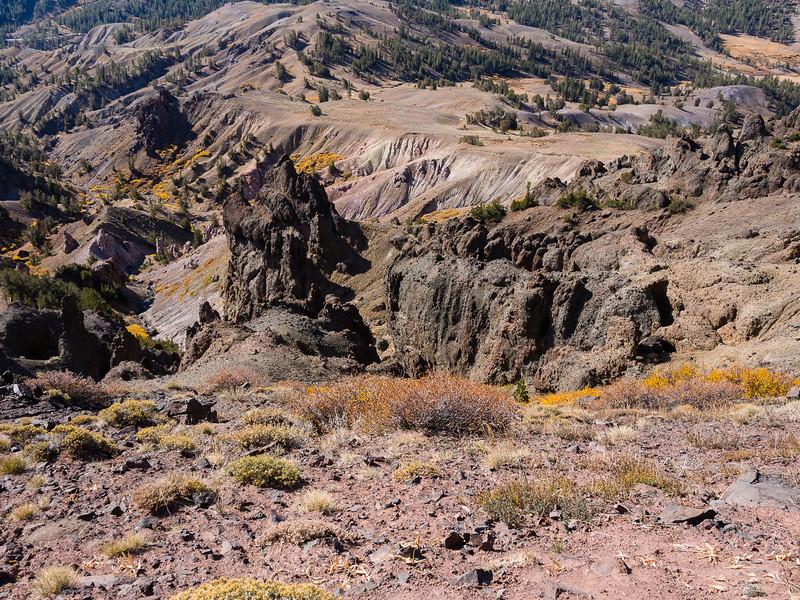 Lower slopes of Sonora Peak