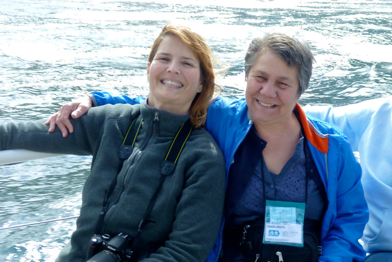 Jeanne and Pamela on the boat cruise to see the seals!