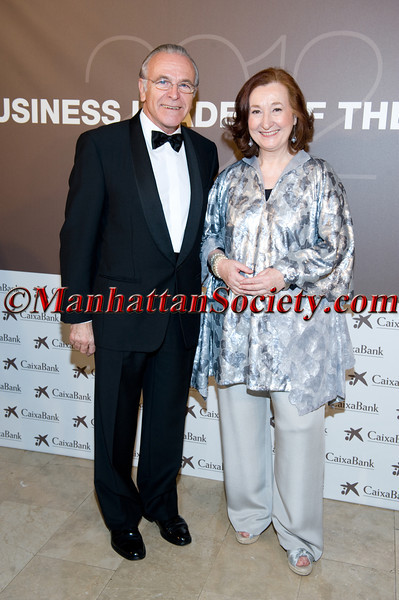 Isidro Fainé, Ms. Petra Mateos-Aparicio attend THE SPAIN - U.S. CHAMBER OF COMMERCE 2012 Annual Gala Dinner Honoring Isidro Fainé Casas, Chairman of Caixa Bank on Tuesday December 4, 2012 at The Plaza Hotel, Grand Ballroom, Fifth Avenue & Central Park South, New York City, NY. (Photos by Gregory Partanio ©2012 ManhattanSociety.com)