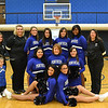 Cheer & Pom Squad 2012: (1st row) Nichole Williams, Jade Hodge; (2nd row) Maddux Bandy, Daniella Juarez, Amber Parker, Sheyli Thomas; (3rd row) Zeruiah Bandy, Marissa Roush, Joanna Overly, Shelby Terrell, Daniella Lescure, Varlenicia Winters, Tamara Sanchez<br /> <br /> photo by Katie Kynion
