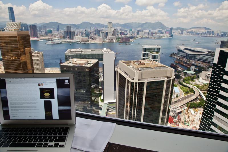 Relevant ad, but not useful. Shangri La, Hong Kong.