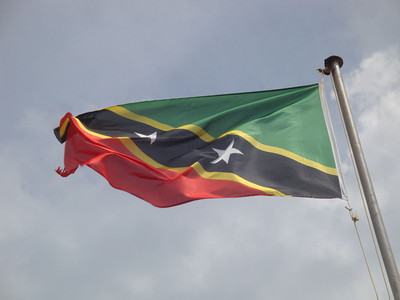 Now the flag of the Federation of St Kitts and Nevis flies over the fort.