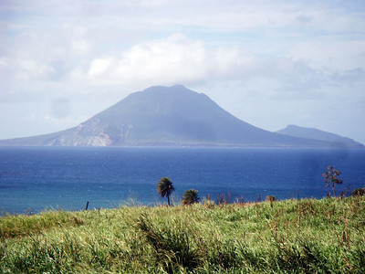 St Eustatius is visible from the Northern tip of the island here.