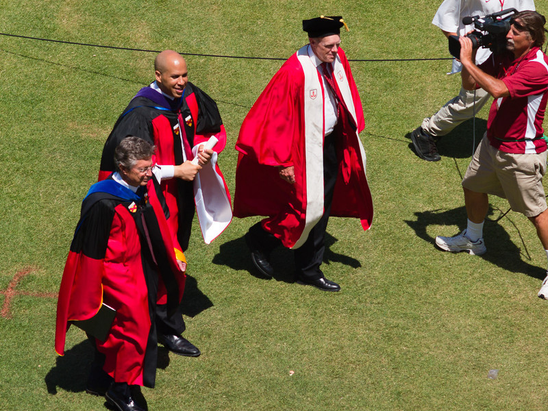 President, Provost and mayor Cory Booker