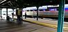 Inbound SEPTA train at Elkins Park Station on the Reading side.