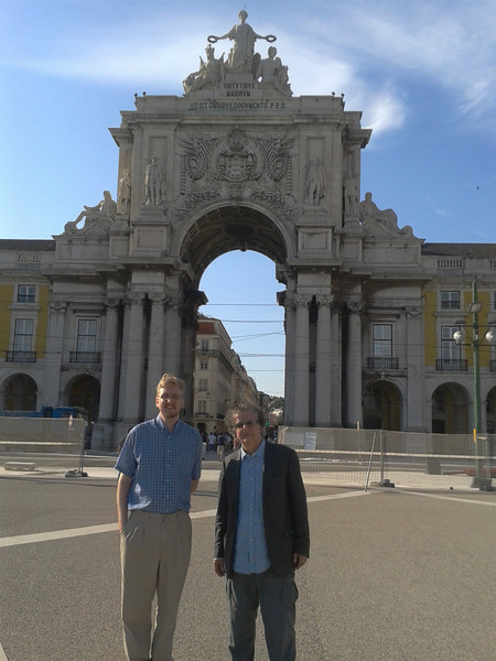 Port of Lisbon with my advisor Yiannis