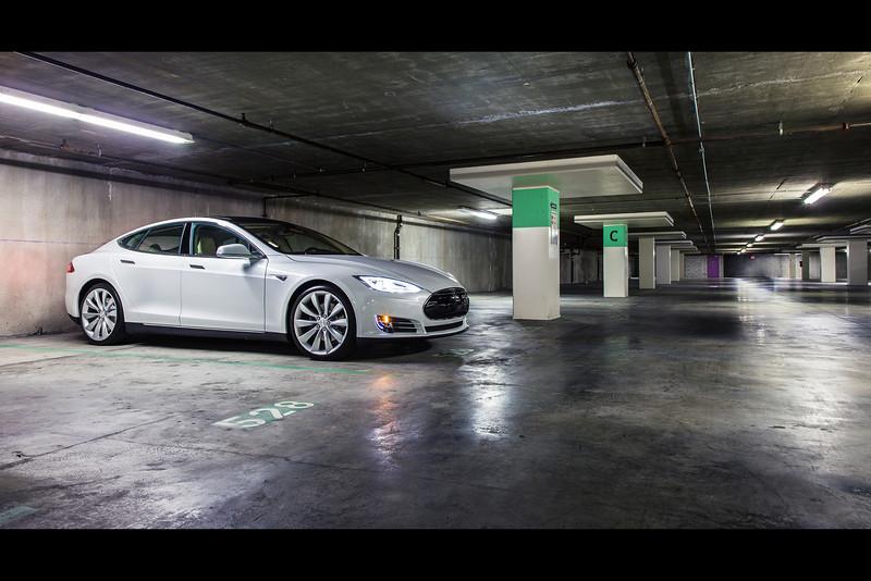 tesla model s parking