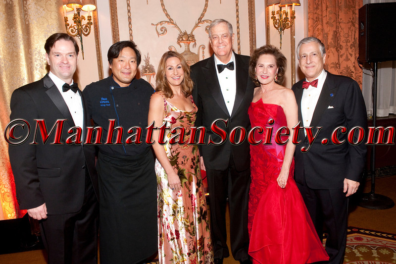 John Lehr, Ming Tsai, Heather Bresch, David Koch, Sharyn Mann, Todd Slotkin attend The 2012 Food Allergy Ball Benefiting the Food Allergy Initiative on Monday, December 03, 2012 at the Waldorf Astoria   301 Park Avenue (between 49th and 50th), New York City, NY (Photos by Christopher London ©2012 ManhattanSociety.com)