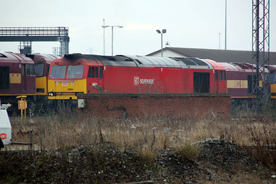 60054 ticking over at Toton.