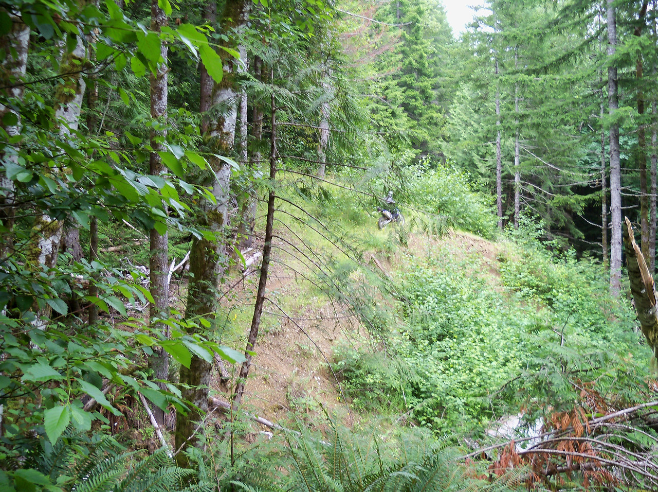 We headed for Vance Creek, looking for a trail to the South end of the old abandoned railroad bridge which we found...
