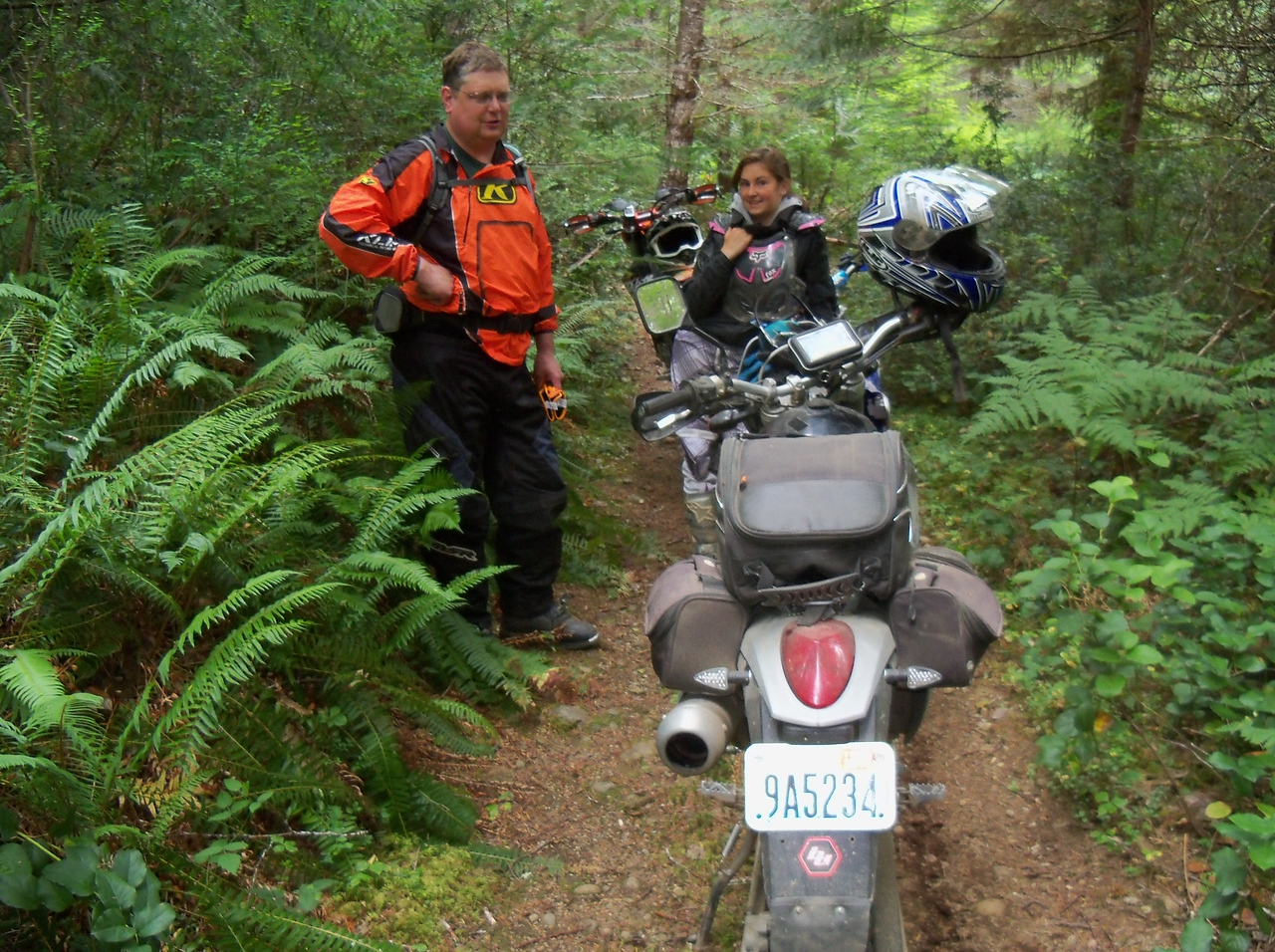 Anthony showed us some great riding in the Mason Lake Area...
