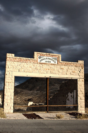 Rhyolite, NV in HDR.