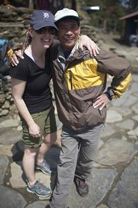Ellen Winn & Dik (guide) - Ellen Winn (K'68, Haverford '97)