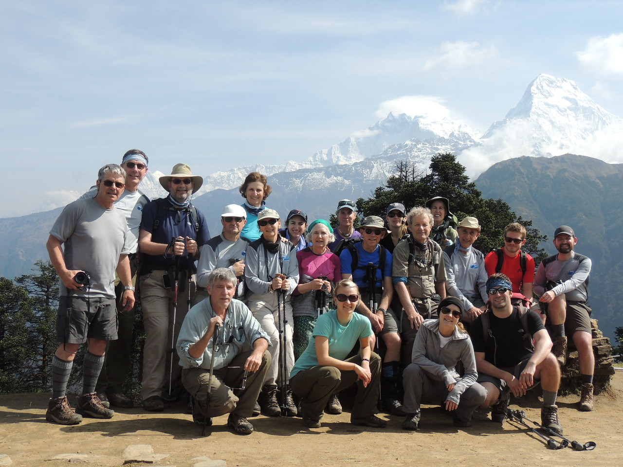 Princeton trekkers on Annapurna circuit - Rick Curtis '79