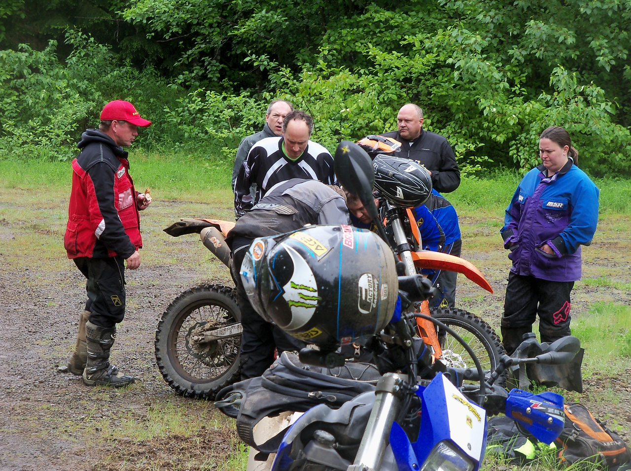 We had a few bike issues, Justin's lights and my ATK died, but made it back to Matlock...
