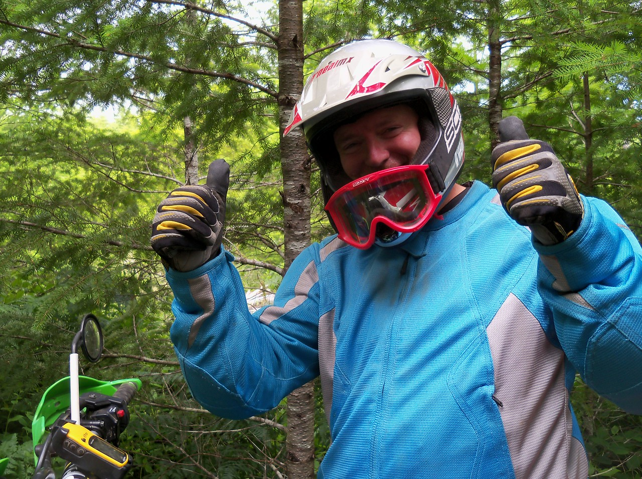 """Friday July 6th, Bill on Trail Option #1 of the """"Shelton DS Run"""".."""