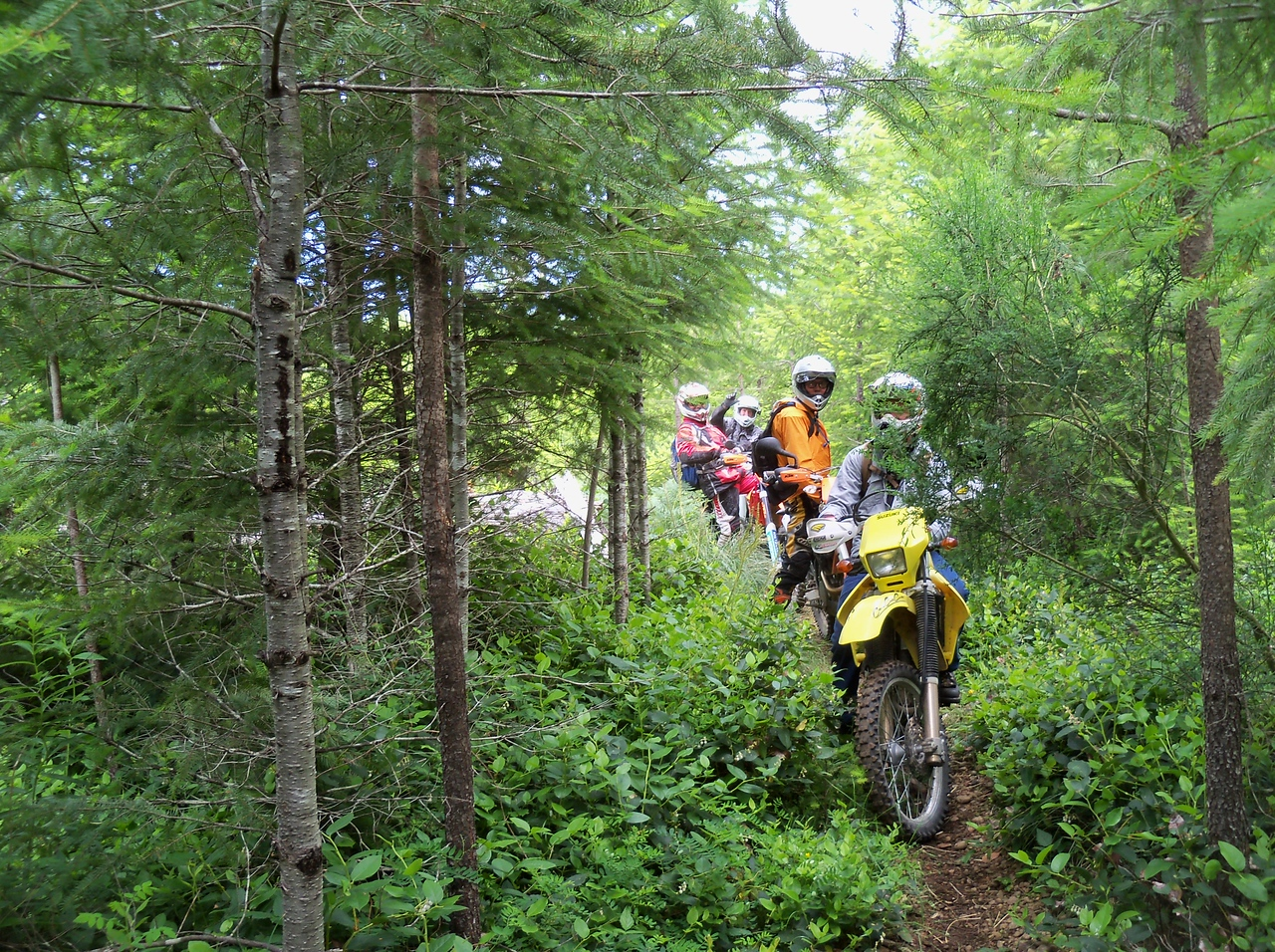 We rode some great single track for a few hours in the morning..