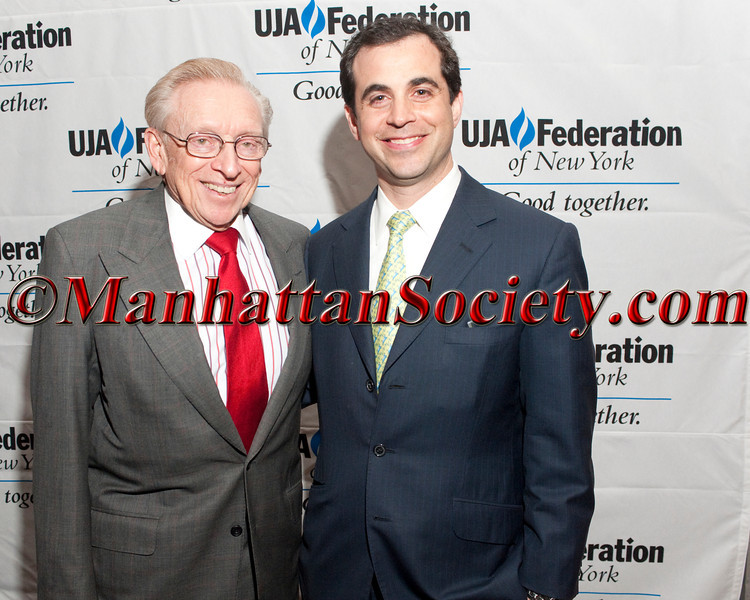 NEW YORK, NY - APRIL 05: Larry Silverstein, Justin Green attend UJA-Federation of New York's 2012 Annual REX Gala honoring Justin H. Green at Grand Hyatt New York – 109 East 42nd Street, on April 5, 2012 in New York City. (Photos by Christopher London ©2012 ManhattanSociety.com)