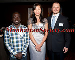 NEW YORK, NY - APRIL 02: 2012 Vilcek Prize winners for Creative Promise,  Michel Kouakou and Alice Ting, Ph.D. with Executive Director, The Vilcek Foundation. Rick Kinsel attend The Vilcek Foundation 2012 Awards Dinner at the Mandarin Oriental Hotel - 80 Columbus Circle on April 2, 2012 in New York City. (Photos by Christopher London ©2012 ManhattanSociety.com)