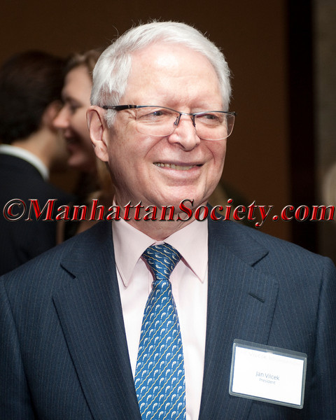 NEW YORK, NY - APRIL 02: Jan T. Vilček M.D., Ph.D, Co-founder of The Vilcek Foundation, attends The Vilcek Foundation 2012 Awards Dinner at the Mandarin Oriental Hotel - 80 Columbus Circle on April 2, 2012 in New York City. (Photos by Christopher London ©2012 ManhattanSociety.com)