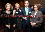 NEW YORK, NY - APRIL 02: Emily Rafferty – President, Metropolitan Museum of Art, Marica Vilcek, Co-founder of The Vilcek Foundation, Dr. Robert I. Grossman, Dean & CEO of NYU School of Medicine, Dr. Elisabeth Cohen attend The Vilcek Foundation 2012 Awards Dinner at the Mandarin Oriental Hotel - 80 Columbus Circle on April 2, 2012 in New York City. (Photos by Christopher London ©2012 ManhattanSociety.com)