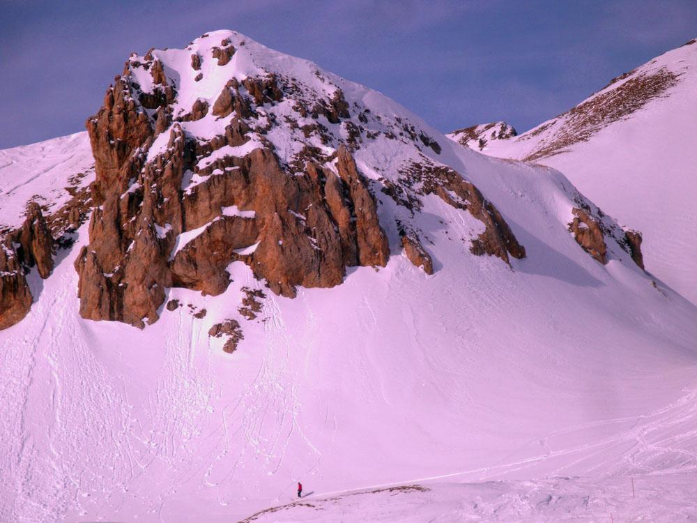 Off pister skier