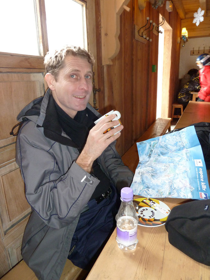 We spent a bit of time in restaurants, usually high on the mountains, desperately trying to warm ourselves against the cold.