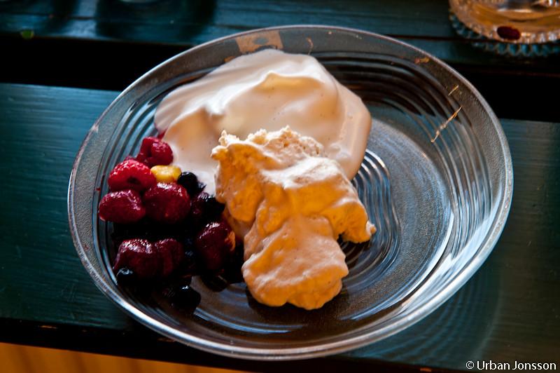 Ewa hade tagit med glass till dessert.