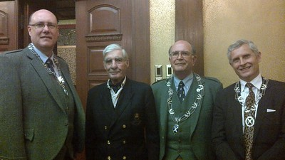 Brian MacKenzie, Justice Kenneth C. Mackay, Bruce Bolton, and Scot Diamond
