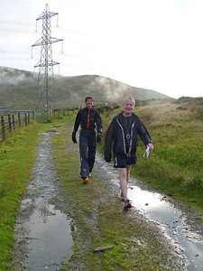 Kate and Simon shortly after. They were also cold, and Simon gave up his chance to beat me to help Kate continue on her old broken ankle (the only reason she didn't thrash every other runner - all of who were men). Somewhere further back was Ray - the final competitor still going. A decade or two older than most of us, he'd done another ultra last week, and was planning a 100 mile race the next. Completely and utterly inspiring.