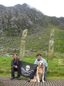 Next we descended to meet our wonderful supporter crew at the Lake Ogwen checkpoint arriving around 13:50. Unfortunately neither Simon nor I had the chance to put our feet up and enjoy a hot drink for long, because in a flash Kate was off again. Simon and I desperately ran to catch her again before she disappeared up the third and final mountain range - the Carneddau.