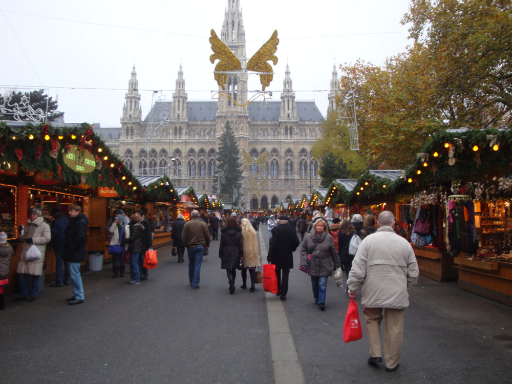 The christmas markets were in full swing.