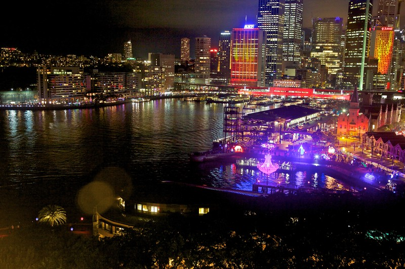 A view across Circular Quay where a large bulk of the displays was situated.