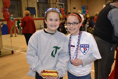 Hot dogs and basketball - perfect combo.