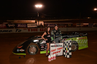Scott Bloomquist won the Red Buck Fast Time Award