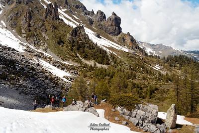 Champcella - Montée au Col de Travouillon -  Demitour, trop de neige