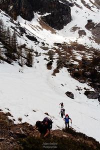 Champcella - Montée au Col de Travouillon
