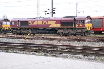 66133 seen in Warrington Yard.
