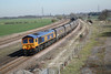 27 March 2012 :: Coal being transported as 6H93 from Tyne Dock to Drax at Burton Salmon by 66729