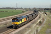 27 March 2012 :: Colas train 6M86 from Wolsingham to Ratcliffe with 66849 at Burton Salmon