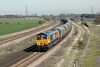 27 March 2012 :: Biomass on its way from Tyne Dock to Drax with 66714 on train 6H30 passing Burton Salmon