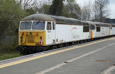 66847 + 56051_56065_56078_56049 1301/0z56 Crewe Diesel-Kingsbury EMR-Burton Wetmore Sidings.
